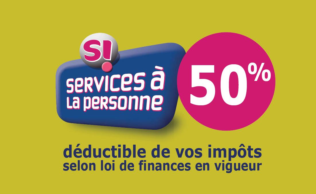 50% déductible sur vos impôts avec les services à la personne